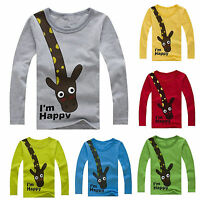 Long Sleeve Kids Boys T-shirt Tops Long Sleeve Clothes Cotton Tee Casual 2-7Yrs