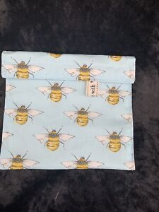 Reusable Washable Snack / Sandwich  Lunch Bag Eco Friendly - BEES