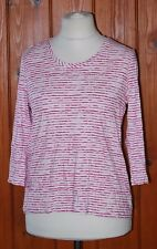 BNWT, M&S, Ladies, Pink Mix, Stripy, Casual, Party, Top, Tunic, size 14 (42)