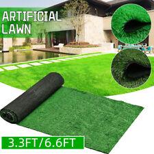 6.6ft Artificial Grass Carpet Fake Synthetic Landscape Lawn Mat Turf Garden Yard