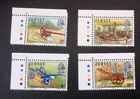 JERSEY SG119/122 19th CENTURY FARMING SET OF 4 CORNER STAMPS WITH TRAFFICS MNH