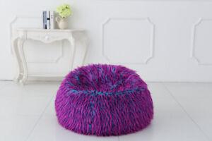 NEW Multi colour Faux Fur Bean Bag Chairs
