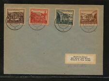 Germany    Thuringen   imperf  stamps on cover to  US              KL1112