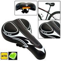Dunlop Soft Plus Bicycle Saddle Seat Bike Reflector MTB Unisex Adult Ergonomic