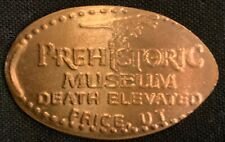 Small Dinosaur 'Death Elevated' - Prehistoric Museum Utah Copper Pressed Penny