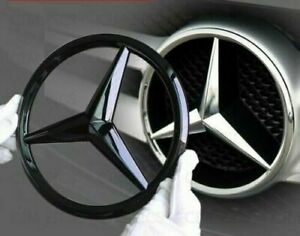 For Mercedes Gloss Black Front Grille Star Badge Cover 18.8 U.K SELLER