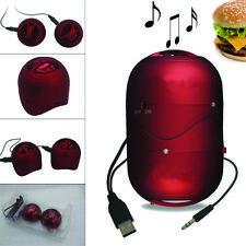 Mini Portable Hamburger Twins Speaker For iPhone IPod iPad mp3/mp4