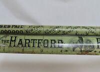 Antique Hartford Fire Insurance Co. Advertising Ruler - 80602