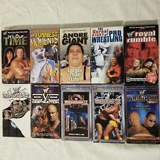 Lot of 10 WWF VHS Videos Wrestlemania Royal Rumble Rock Hulk Hogan Steve Austin