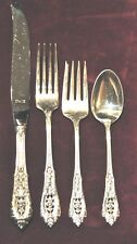 Rose Point By Wallace Sterling Flatware Set For 12 Free Shipping And Free Box