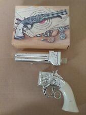 Vintage Avon Volcanic Repeating Pistol Cologne Decanter W/Box Brisk Spice #471