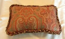 WAVERLY Home Fashion Fringed Rectangular Decorator Pillow PAISLEY