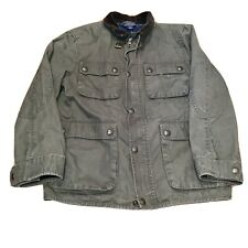 Polo Ralph Lauren Hunting Jacket Boys Sz L 14-16 Youth Corduroy Army Green