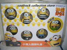 2017 China Mcdonalds Happy Meals toy Despicable Me MINIONS 7 toys box set