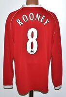 MANCHESTER UNITED 2006/2007 HOME FOOTBALL SHIRT #8 ROONEY NIKE SIZE XL ADULT