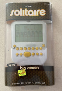 Radica Big Screen Solitaire Game w/Lighted Screen Yellow Mattel 2008 Unopened