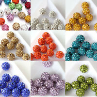 20Pcs Czech Crystal Rhinestones Pave Clay Disco Ball Round Spacer Beads DIY 10MM