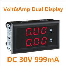 DC 30V 999mA Dual LED Display Digital Volt&Ammeter Voltage Current Meter Monitor