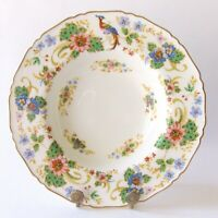 "ROYAL WORCESTER MELROSE 8"" RIMMED SOUP BOWL(S) MULTICOLORED BIRD OF PARADISE"