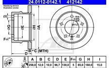 ATE Juego de 2 discos freno 258mm para VW LT MERCEDES 24.0112-0142.1