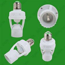 1x ES E27 Light Bulb Lamp PIR Motion Sensor Activated Socket Adaptor Converter