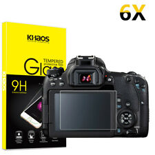 6-Pack Khaos For Canon EOS M M2 60D 550D 600D Tempered Glass Screen Protector