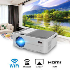 Portable WiFi Home Theater Projector 1080P Wirelessly Multi-Screen for iPhone