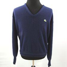 Lacoste IZOD V Neck Sweater Mens XL Blue Vintage