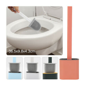 Multicolor Silicone Toilet Brush Creative  Cleaning Brush Set Wall-Mounted