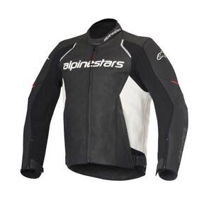Alpinestars DEVON Black/White Leather Motorcycle Jacket  -  SAVE £170 SALE !!!
