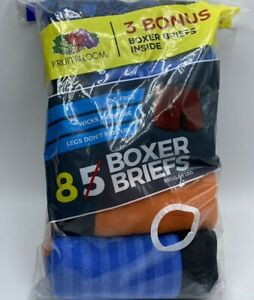 Boy's 6-8 & 10-12 Fruit of the Loom Boxer Briefs Tag Free Wicks Moisture 8 Pack