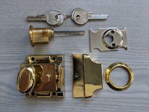 Adore Narrow Stile Rim Nightlatch with Brass Cylinder