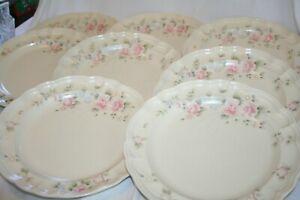 "Set of 8 Pfaltzgraff 10.25"" Dinner Plates. Tea Rose"