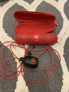 Beats by Dr. Dre Pill Portable Speaker - Red Used Working