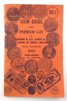 Vintage 1963 Coin Book Guide Premium List Canadian US Coins Charlton Q685