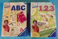 2 Ancienne Boîtes Jeux et apprendre ABC,et savoir compter 1,2,3 Ravensburger