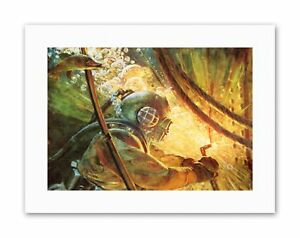 PULP FICTION UNDER WATER WELDER SEA SCUBA DIVER Poster Painting Canvas art