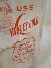 Vintage 2 Quart Milk Bottle Valley Gold