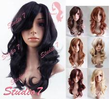 Studio7-UK Wavy Long Auburn Brown Blonde Synthetic Wig Various Colours