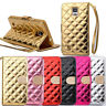 Bling Diamond Card Leather Wallet Flip Cover For Samsung Galaxy Note 4 Salable