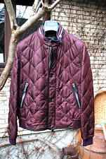 BURBERRY PRORSUM Bourgogne Quilted Bomber Jacket Blouson 48 NEW! $1200