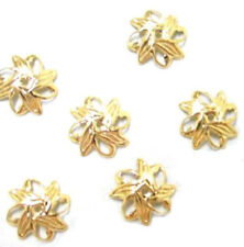 100 Leaf Design Gold Filigree Beadcaps Bead Cap 10mm
