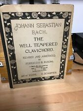 ANTIQUE MUSIC HARD COVER MUSIC BOOK SEBASTIAN  BACH WELL TEMPERED CLAVICHORD NY