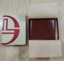 SERGIO TACCHINI Man Brown Leather Wallet NEW Old Stock VINTAGE in Box Large