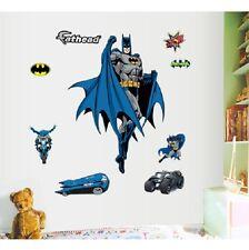 Batman Superhero Boy Wall Stickers Decals Vinyl Paper Mural Home Art Decor