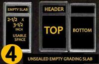 4  EMPTY PROFESSIONAL Unsealed Graded Card Slabs HOLDER for GRADING NEW
