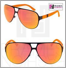 GUCCI GG2252 Aviator Sport Metal Rubber Matte Orange Mirrored Sunglasses 2252