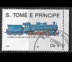 1990 - Sao Tome & Principe Locomotives Bohemia Train Used Mi#1170