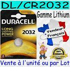 Piles DURACELL CR2032 DL2032 - Dispo aussi : CR1220 CR2016 CR2025 CR2430 CR2450