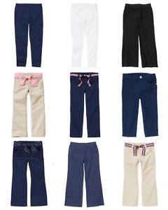 NWT GYMBOREE Kids Girl Uniform Pants Jeans Leggings Capri